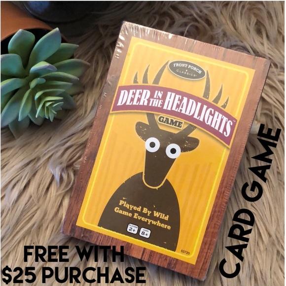 "NIB""Deer In The Headlights"" Card Game-2+Players"
